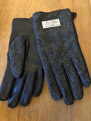 Glen Appin Harris Tweed/ Leather Mens Gloves