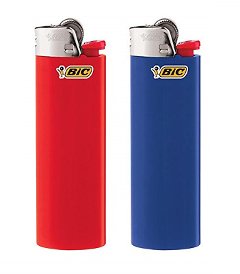 2 Ct Big Size BIC Lighter Assorted Multi Color Flint Kitchen BBQ Fire Place Aid