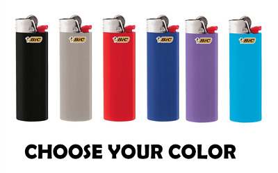 16 Ct Big Size BIC Lighter Assorted Multi Color Flint Kitchen BBQ Fire Place Aid