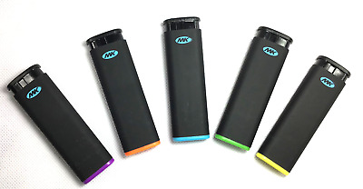 MK JET BLACK TORCH 5 Ct Big Full Size Lighters Refillable Windproof Lighter