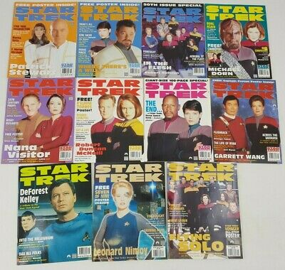 Star Trek Official Magazine 1999 Bundle 11 Issues January - October Early Late