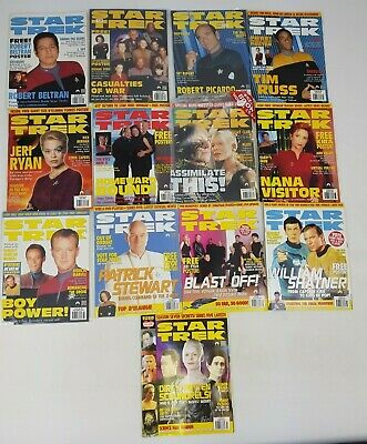 Star Trek Official Magazine Complete 2000 Bundle 13 Issues January - December