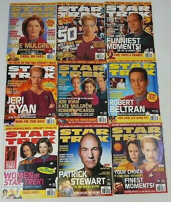 Star Trek Official Magazine 2001 2002 Bundle Issues Jan Feb April May Summer