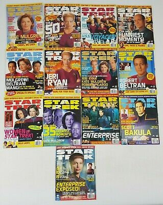 Star Trek Official Magazine Complete 2001 Bundle 13 Issues January - December