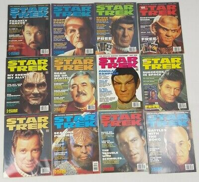 Star Trek Official Magazine Complete 1996 Bundle 12 Issues January - December
