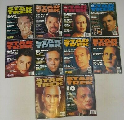 Star Trek Official Magazine 1997 Bundle 10 Issues January - December