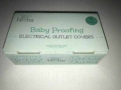 JESSA LEONA Baby Proofing Self-Closing Electrical Outlet Covers - Qty. 3