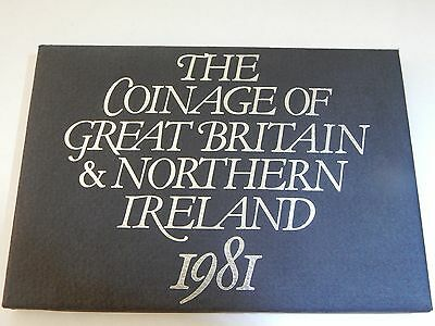 1981 The Coinage of Great Britain & Northern Ireland 6 Coin Proof Set