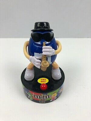 Mars M&Ms Candy Blue Musical Figure Saxophone Plays Music