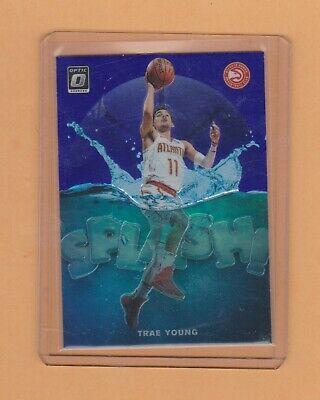Trae Young 2019-20 Panini Donruss Optic Splash  Prizm Hawks L@@K  Rare