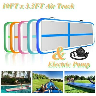 Airtrack Air Track Floor Inflatable Gymnastics Tumbling Mat GYM w/ Electric Pump