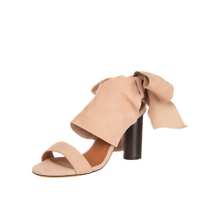 New Simply Be Brown scallop leather flat sandals size 4 to 9 wide fit ref S9U