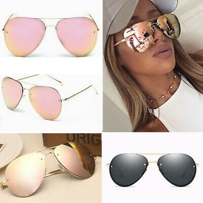 Aviator Frame Polarized Rose Gold Mirror Lens Sunglasses Cat Eye Hot UVA UVB AU