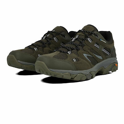 Hi-Tec Mens Ravus Vent Lite Low Waterproof Walking Shoes - Green Sports Outdoors