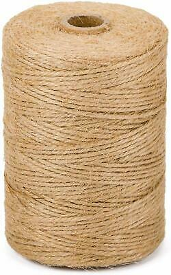 10m-1000m 3 Ply Natural Brown Soft Jute Twine Sisal String Rustic Cord Shabby