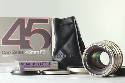 【TOP MINT in Box w/ Hood】 Contax Carl Zeiss Planar T* 45mm f/2 G Lens From JAPAN
