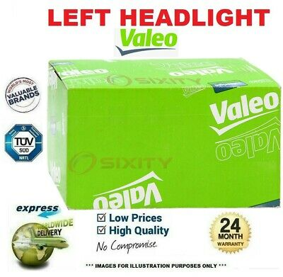 VALEO Left HEADLIGHT for OPEL AGILA 1.0 2011->on