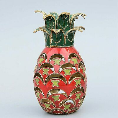 Collectable Chinese Cloisonne Hand-Carved Fruit Pineapple Delicate Unique Statue