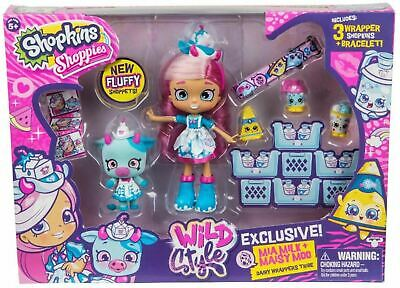 Shopkins Shoppies Wild Style Mia Milk and Maisy Moo Shoppet Pack Playset