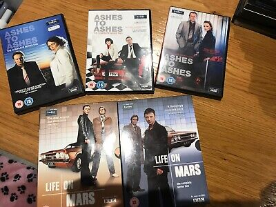 ASHES TO ASHES:SERIES 1 - 3 and LIFE ON MARS  1 & 2 COMPLETE. 20 DISCS DVD