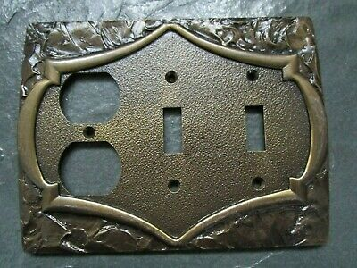 AMEROCK Ornate Double Light Switch Plates + Outlet Dual Cover VINTAGE