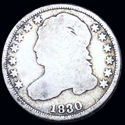 1830 Capped Bust Dime NICELY CIRCULATED Philadelphia High End 10c Silver Coin NR