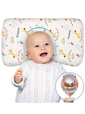 Baby Pillow for Sleeping Memory Foam Unisex Infant Pillow Baby Head Shaping