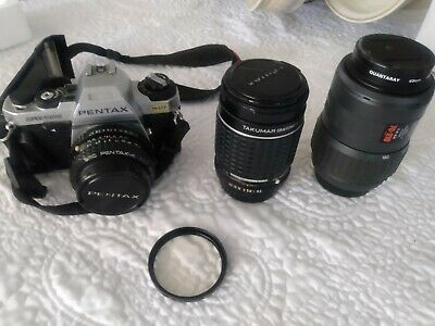 Pentax ME Super 35mm SLR Film Camera with 50 mm lens Kit