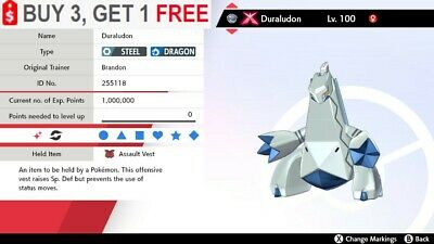 ✨ Shiny Gmax Duraludon ✨ 6IV Pokemon Sword and Shield 🚀Fast Delivery🚀