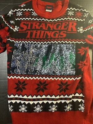 STRANGER THINGS UGLY Christmas Sweater Funny Holiday