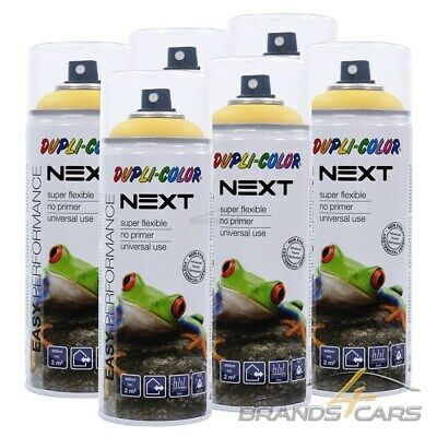 6x 400ml DUPLI COLOR NEXT DUBLIN GELB MATT SPRÜH DECK LACK FARBE SPRAY