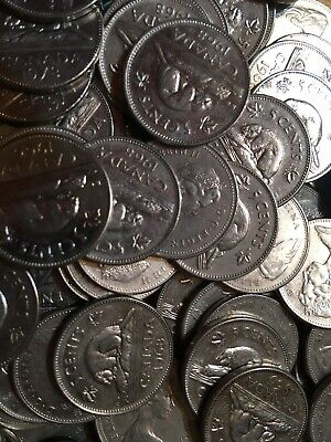 Roll of 40 - Canada Five Cents - Mixed Date Canadian Nickels