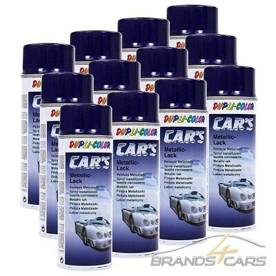 12x 400ml DUPLI COLOR CAR'S METALLIC LACK BLAU LILA AUTOLACK LACKSPRAY EFFEKT