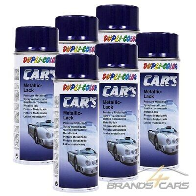 6x 400ml DUPLI COLOR CAR'S METALLIC LACK BLAU LILA AUTOLACK LACKSPRAY EFFEKTLACK