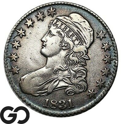 1831 Capped Bust Half Dollar, Early Date Silver 50c