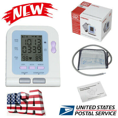 USA CONTEC Fully automatic blood pressure monitor with segment LCD NIBP software