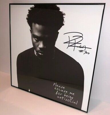 Roddy Ricch Rapper Signed Please Excuse Me For Being Antisocial Album Autograph