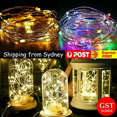 2-4M Battery Powered String Fairy Lights Copper Wire Waterproof Xmas Decor Warm