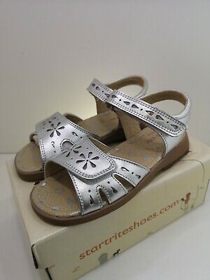 Startrite Honeysuckle Silver Leather Sandals Size 12.5 - NEW Shoes RRP £36