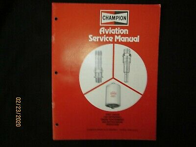 Champion Aviation Aircraft Spark Plug, Igniter, Filter Service Manual Original