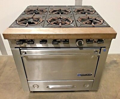 """Garland 6-Burner Gas 34"""" Range Stove Top With Oven"""
