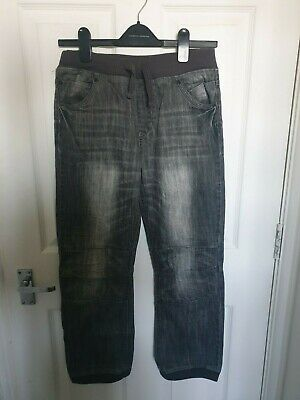 Boys Indigo Marks & Spencer  Washed Black Denim Trousers - Age 12 Yr M&S