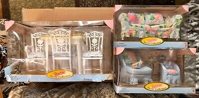 Barbie Decor Coll. Furniture Couch 20803 Chair Ottoman 20806 Dining Table 20807