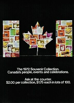 Canada Post Office 1972 Souvenir Collection Poster (x2)