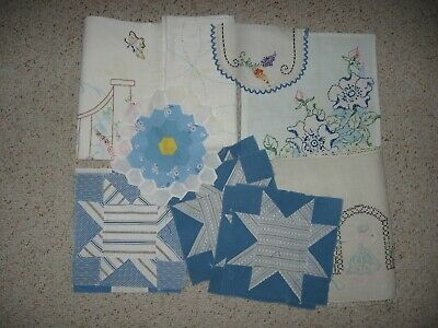 ~ Mixed lot of 12 Orphans ~  Patchwork ~ Cutter Piece ~ Embroidery ~