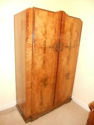 Burr Walnut Double Wardrobe – circa 1930s