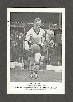 Hand Signed 7x5 BILLY WRIGHT Wolves Wolverhampton Wanderers Football + my COA