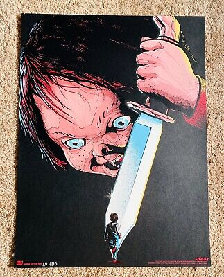 Matt Ryan Tobin CHUCKY (18x24) Child's Play Art Print Poster RARE (OOP) AP#4/10!