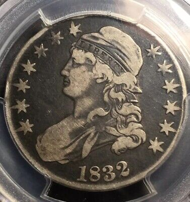 1832 Capped Bust Half Dollar 50c Small Letters Silver Type Coin PCGS F-15