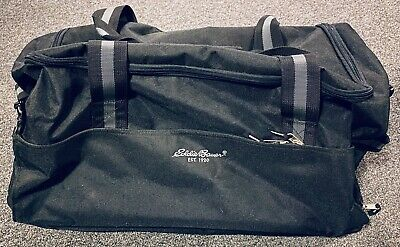 "Eddie Bauer Rolling Canvas Duffel Bag 24"" Long Wheels Extend Handle Wheeled"